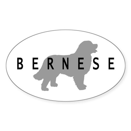 Bernese Dog Oval Sticker