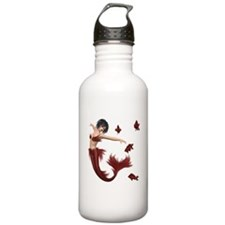 Red Mermaid Water Bottle