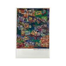 Ransom Note Art Quilt Rectangle Magnet