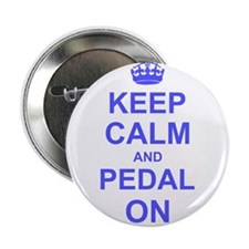 """Keep Calm and Pedal on 2.25"""" Button (10 pack)"""