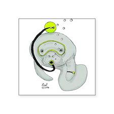 SCUBA Manatee Rectangle Sticker