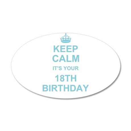 Keep Calm its your 18th Birthday Wall Sticker
