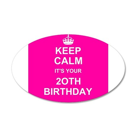 Keep Calm its your 20th Birthday Wall Sticker