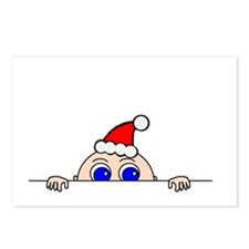 Christmas Baby Peeking Postcards (Package of 8)