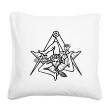 Freemasons Sicilian Trinacria Square Canvas Pillow