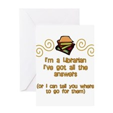 I'm a Librarian Greeting Cards