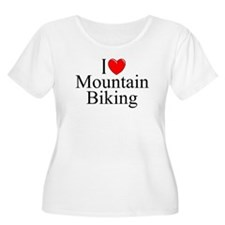 """I Love (Heart) Mountain Biking"" T-Shirt"
