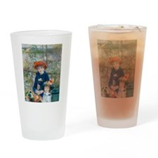 Two Sisters Drinking Glass