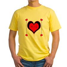 Cascading Hearts Monogram T-Shirt