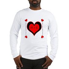 Cascading Hearts Monogram Long Sleeve T-Shirt