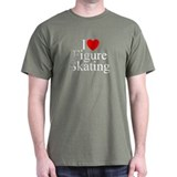 """I Love (Heart) Figure Skating"" T-Shirt"