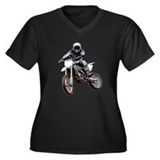 Playing in the dirt Women's Plus Size V-Neck Dark