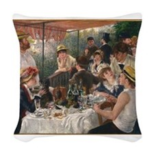 Luncheon of the Boating Party Woven Throw Pillow