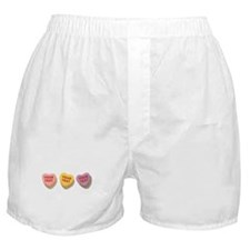 3 Candy Hearts CUSTOM TEXT Boxer Shorts