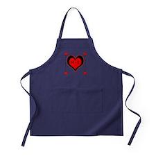 Cascading Hearts Monogram Apron (dark)