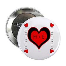 """Cascading Hearts Monogram 2.25"""" Button"""