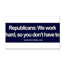 Cute Republican Rectangle Car Magnet