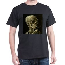 Skull of a Skeleton with Burning Cigarette T-Shirt