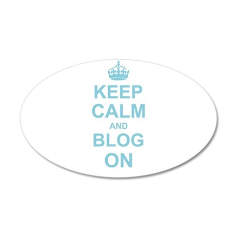 Keep Calm and Blog on Wall Sticker