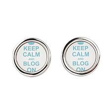 Keep Calm and Blog on Cufflinks