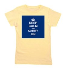 Keep Calm and Carry On - navy blue Girl's Tee