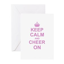 Keep Calm and Cheer on Greeting Cards