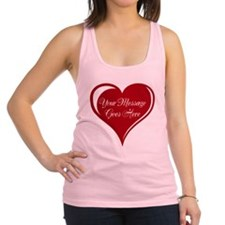 Your Custom Message in a Heart Racerback Tank Top