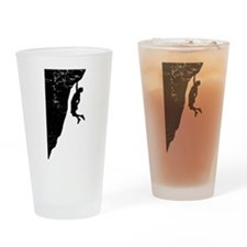 Rock Climber Cliff Hanger Drinking Glass
