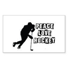 Peace, Love, Hockey Decal