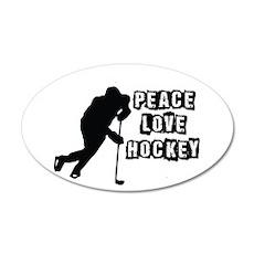 Peace, Love, Hockey Wall Decal