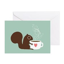 Coffee Squirrel Greeting Cards (Pk of 10)