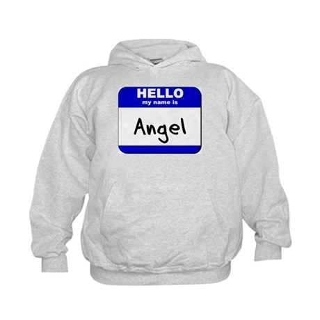 hello my name is angel Kids Hoodie