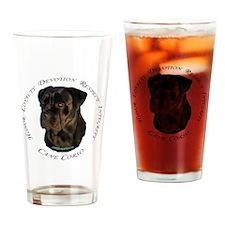 Cute Mastiff Drinking Glass