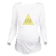 Bermuda Triangle Long Sleeve Maternity T-Shirt