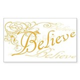 Believe Rectangle Decal