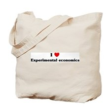 I Love Experimental economics Tote Bag