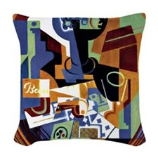 Juan Gris - Compotier and Play Woven Throw Pillow