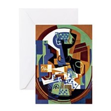 Juan Gris - Compotier and Playing Ca Greeting Card