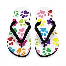 Paw prints Flip Flops