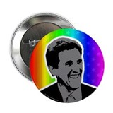 John Kerry rainbow flag button.