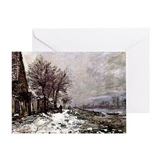 Monet - Lavacourt in Winter Greeting Card