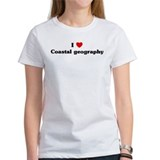 I Love Coastal geography Tee