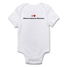 I Love African American liter Infant Bodysuit