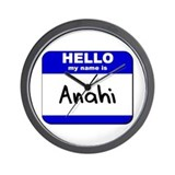 hello my name is anahi  Wall Clock