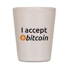 I Accept Bitcoin Shot Glass