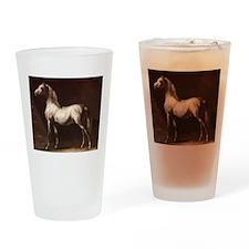 White Arabian Horse Drinking Glass