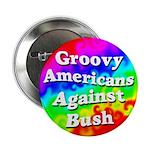 Groovy Americans Against Bush Button
