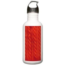 Wool cables in orange Water Bottle