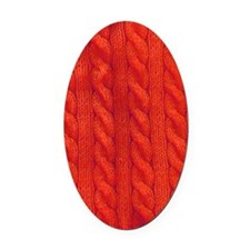 Wool cables in orange Oval Car Magnet