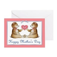 Twin Bear Girls Greeting Card